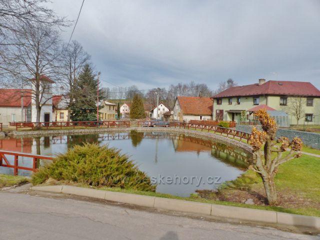 Vrbice - rybník na návsi
