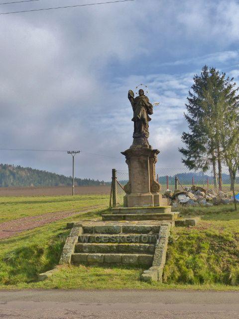 Malá Lhota - socha sv.Jana Nepomuckého