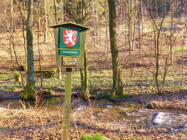 Přírodní památka Čenkovička - Označení PP