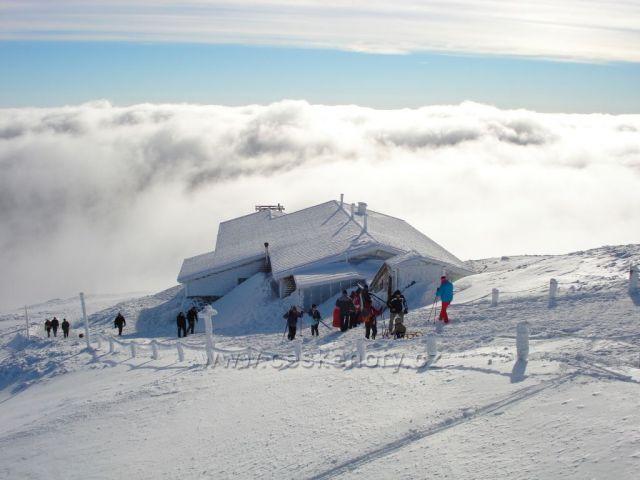 pohled ze Sněžky, Krkonoše