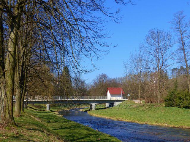 """Žamberk - silniční most přes Divokou Orlici do městské části """"Polsko"""""""