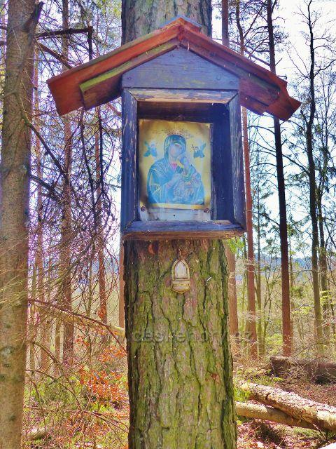 Písečná - svatý obrázek na vrcholu kopce Na Vrších