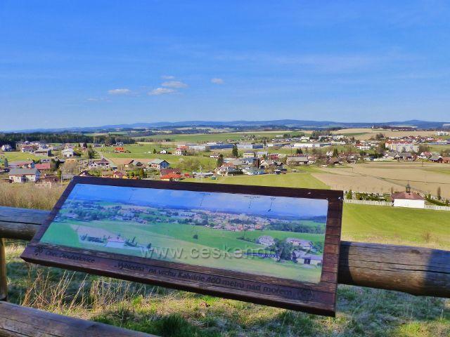 Dlouhoňovice - pohled z výhledny