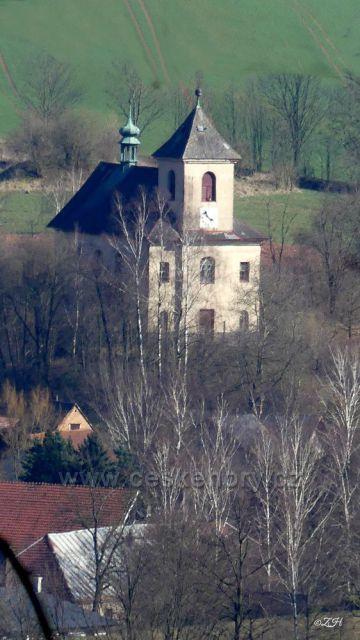 Kostel sv. Jana Křtitele v Horní Dobrouči