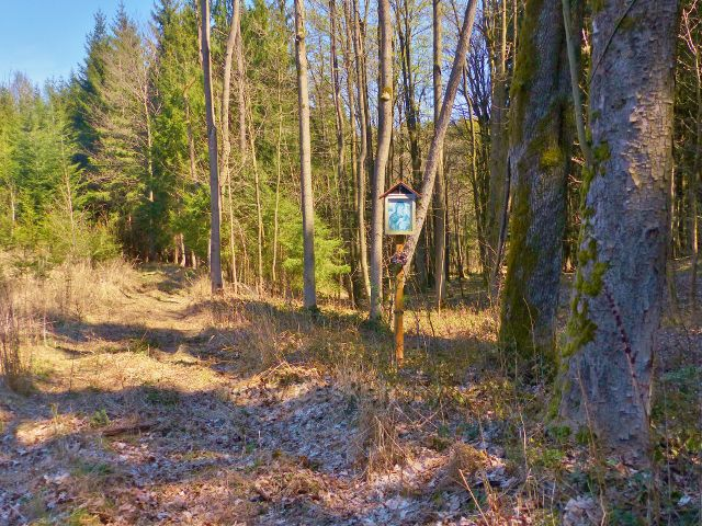 Žamberk - svatý obrázek na rozcestí na úpatí vrchu Na Veselíčku