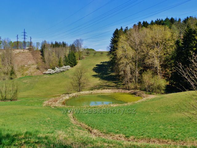 Kunvald - rybníček pod silničkou z Končin