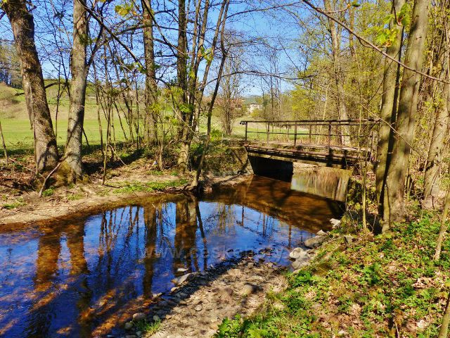 Kunvald - mostek přes Rokytenku u Keprtovo mlýna