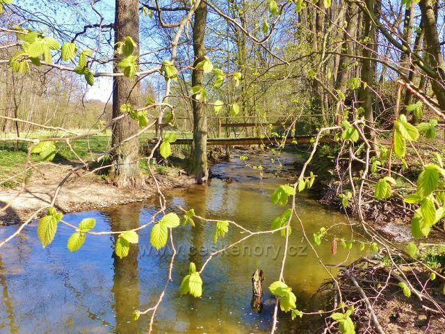 Žamberk - lávka přes Rokytenku pod Dymlovským rybníkem