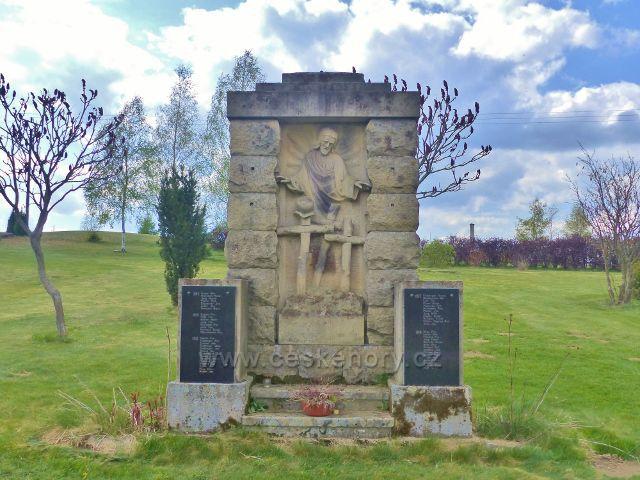 Nebeská Rybná - pomník obětem I.Světové války z let 1914 až 1918