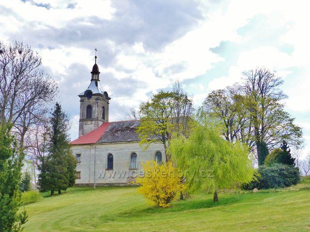 Klasicistní farní kostel sv. Filipa a Jakuba v Nebeské Rybné