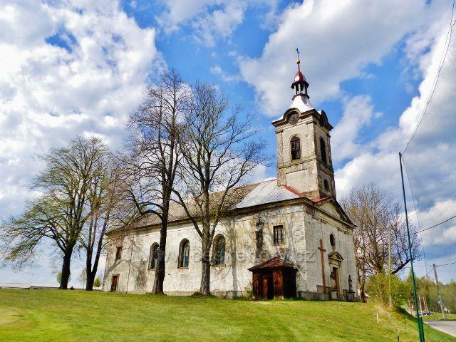 Klasicistní farní kostel v Nebeské Rybné