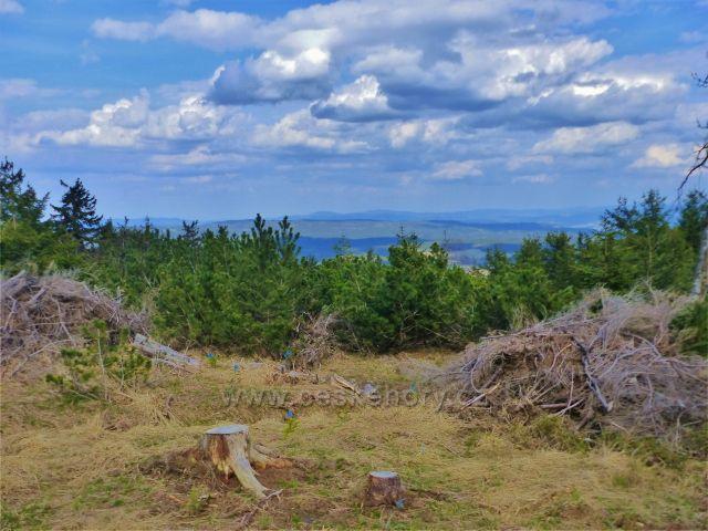 Pohled z Jiráskovy cesty  na vrcholky Bystřických hor