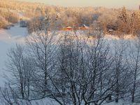 bílá peřina na jablonecké přehradě