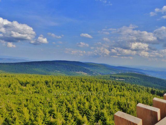 Pohled z rozhledny Velká Deštná k Sedloňovskému vrchu