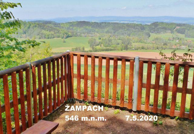 Upravený výhledový ochoz na vrchu Žampach