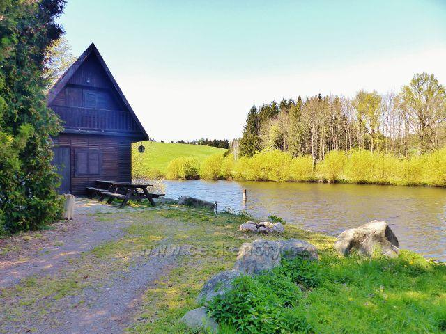 Písečná - Kalouskův rybník u polní cesty do Žamberka