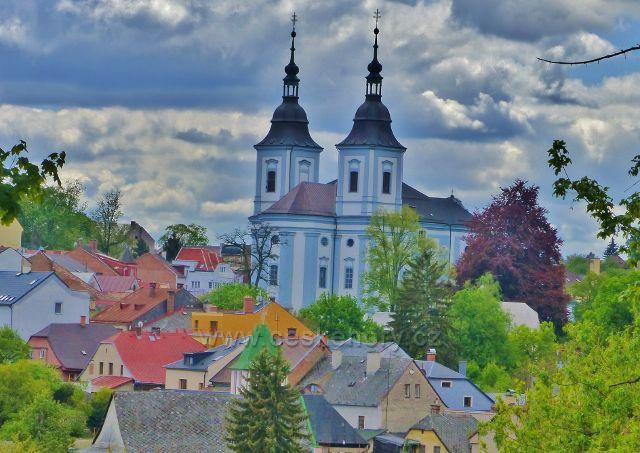 Žamberské střechy pod kostelem sv. Václava