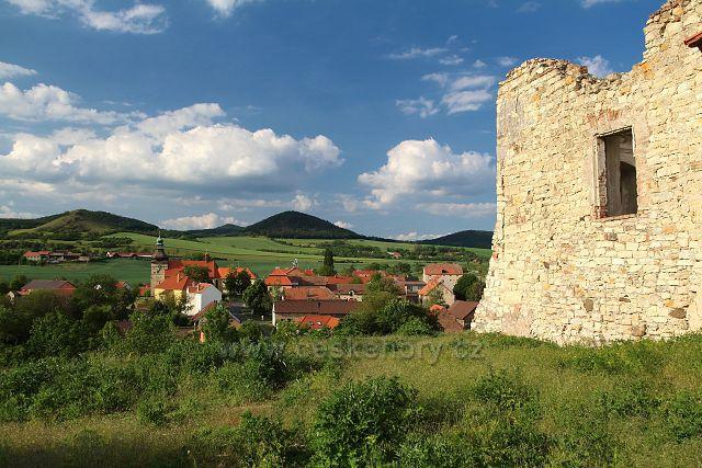 Výhled na Libčeves od zámku