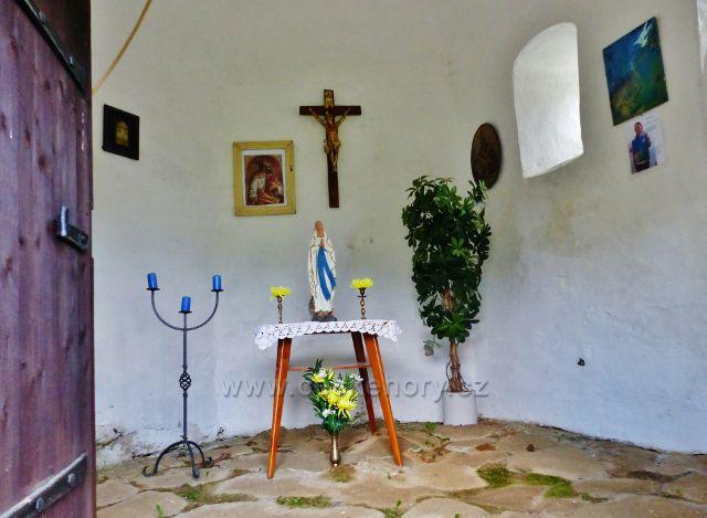 Interiér zvoničky v Kunčicích