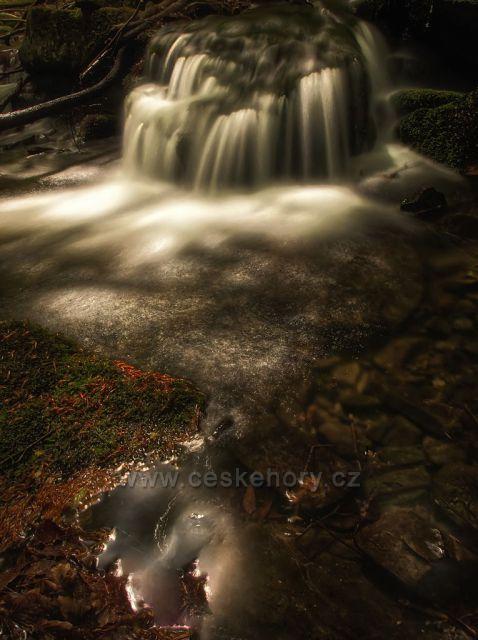 Kaskády studeného potoka Beskydy