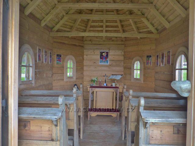 Interiér kaple sv. Kryštofa na Paprsku