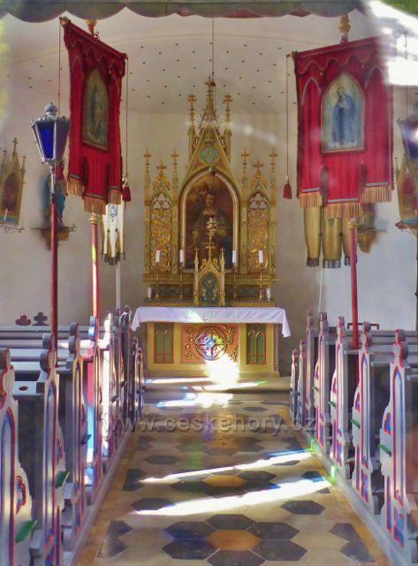 Petříkov - interiér kaple svatého Vavřince
