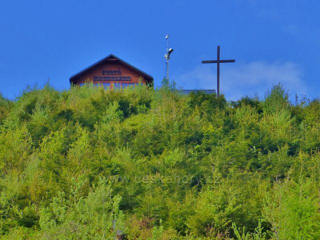 Petříkov - kříž svatého Martina před sv. Magdalenou