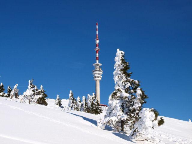 Vysílač na Pradědu leden 2011