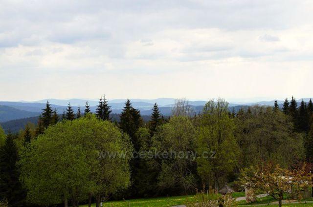 Panoráma Šumavy a Bavorský les
