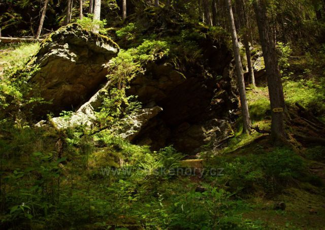 Naučná stezka - Cestou zlatokopů - skalní útvary