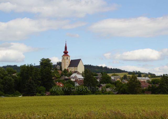 Kostel sv. Jiří - Stážov podhůří Šumavy
