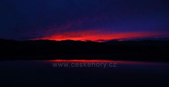 Západ slunce u Sušice