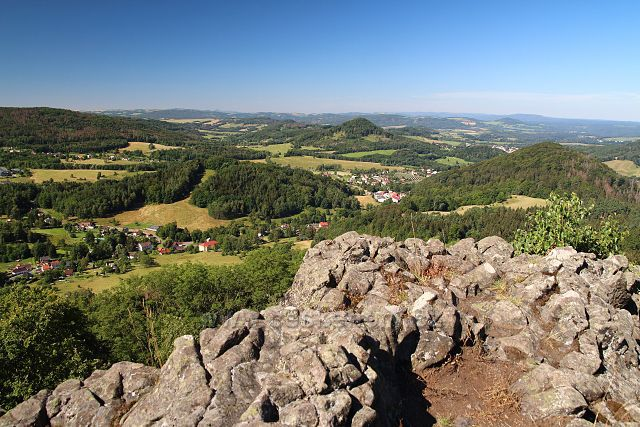 Výhled ze Středního vrchu