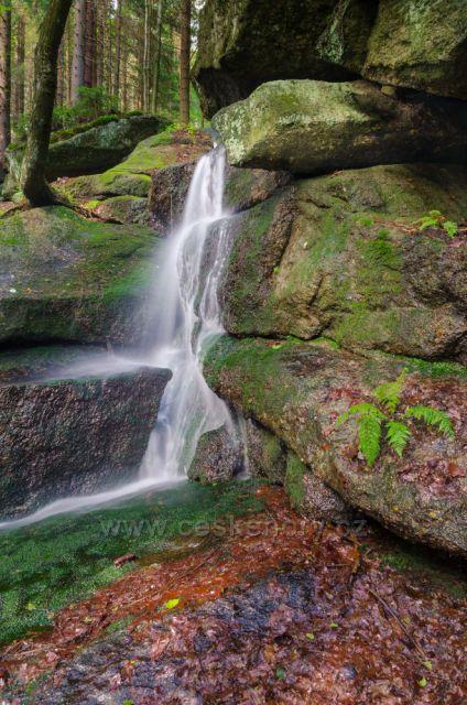 Josefův Důl - Červený vodopád