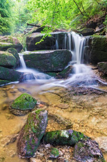 Vodopád na Malém Kamenickém potoce pod Kristiánovem