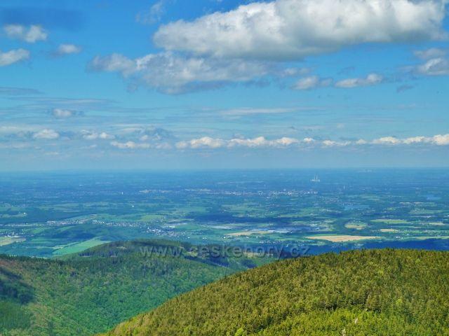 Pohled z Lysé hory k Ostravské pánvi