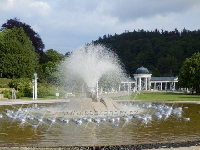 Mariánské Lázně- zpívající fontána