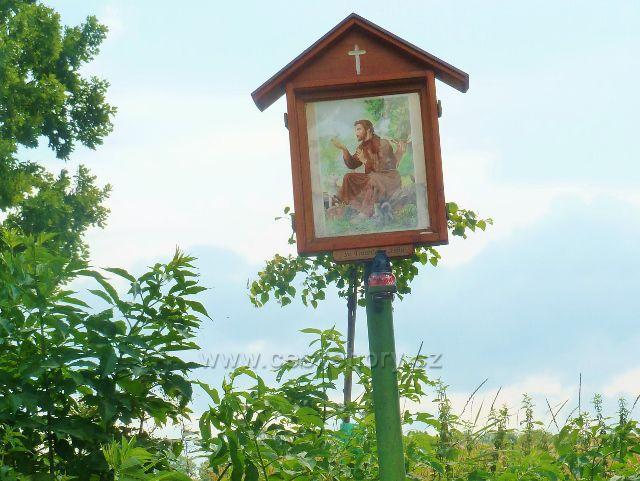 Bludov - obrázek sv.Františka z Assisi u rozcestí Na Příčné