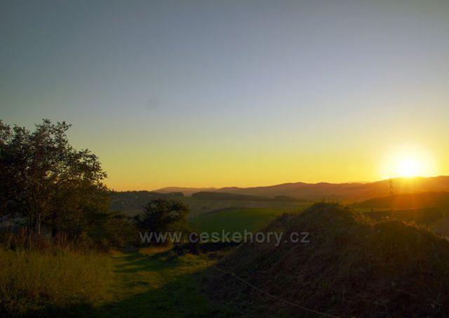 Západ slunce nad Klenovou