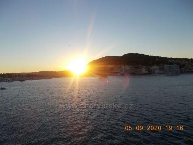 Západ slunce ve Splitu