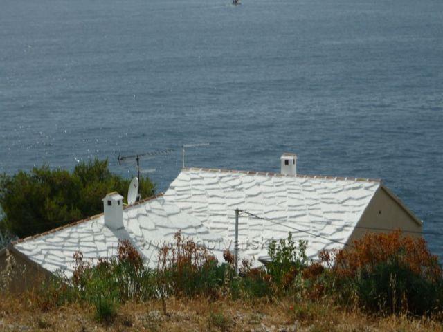 Primošten pohled od kostela k moři