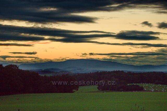 Západ slunce nad Kletí
