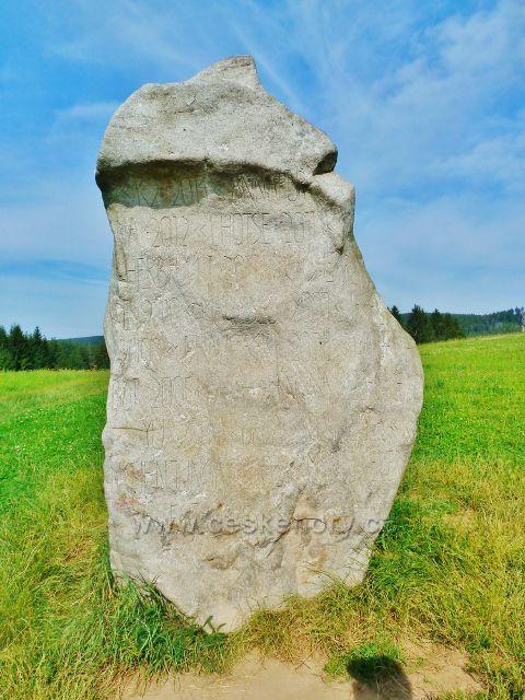Sněžné - monument horolezce Radka Jaroše