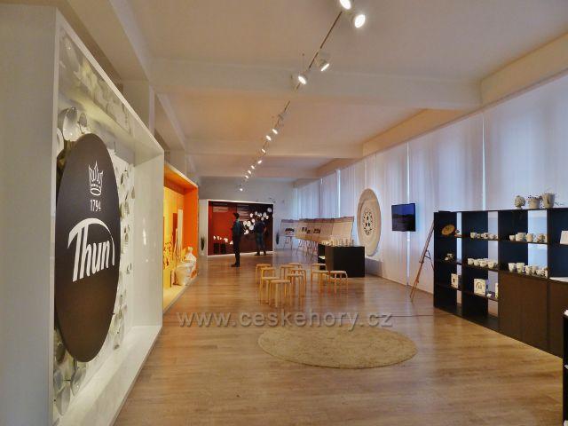 Porcelánka Thun v Nové Roli, interiér návštěvnického centra