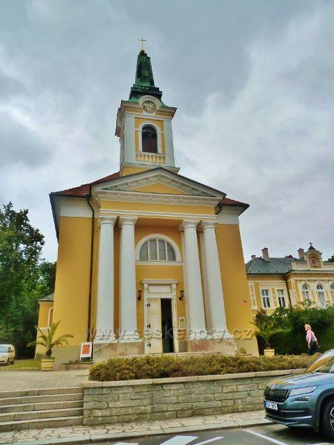 Františkovy Lázně - farní kostel Povýšení svatého Kříže