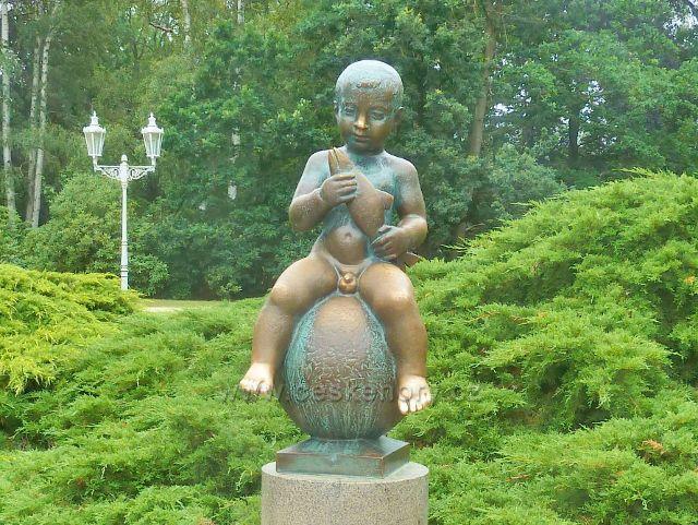 Františkovy Lázně - socha legendárního Františka