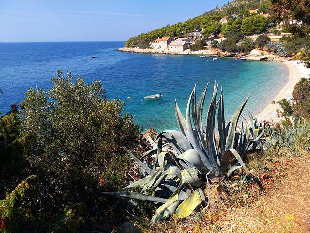 zátoka na ostrově Brač Chorvatsko
