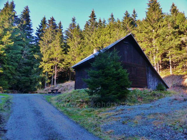 Orlické hory - lovecká chata na úpatí Koruny