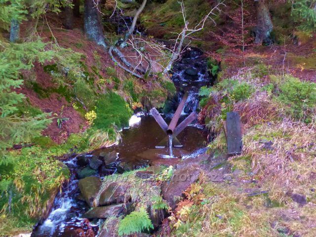 Orlické hory - Čertovodolský potok u lovecké chaty na úpatí Koruny