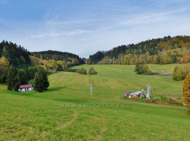 Jablonné nad Orlicí - dolní stanice lyžařského vleku na Malův kopec